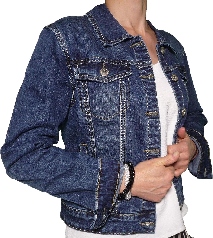 Giacca Jeans Manica Lunga Donna Taglia Comoda Giacchetto Semplice Moda