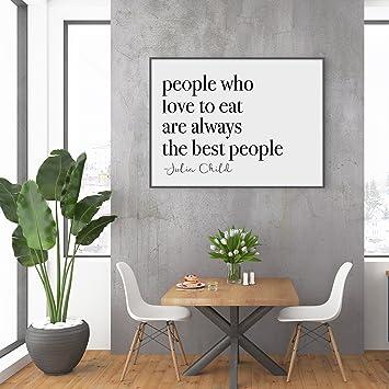 Amazon.com: SpecsDecorCo Dining Room Decor/Julia Child Quote ...