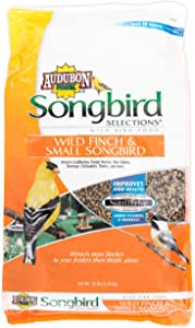 Audubon Park Songbird Selections 11976 Finch and Small Songbird Wild Bird Food, 12 lb