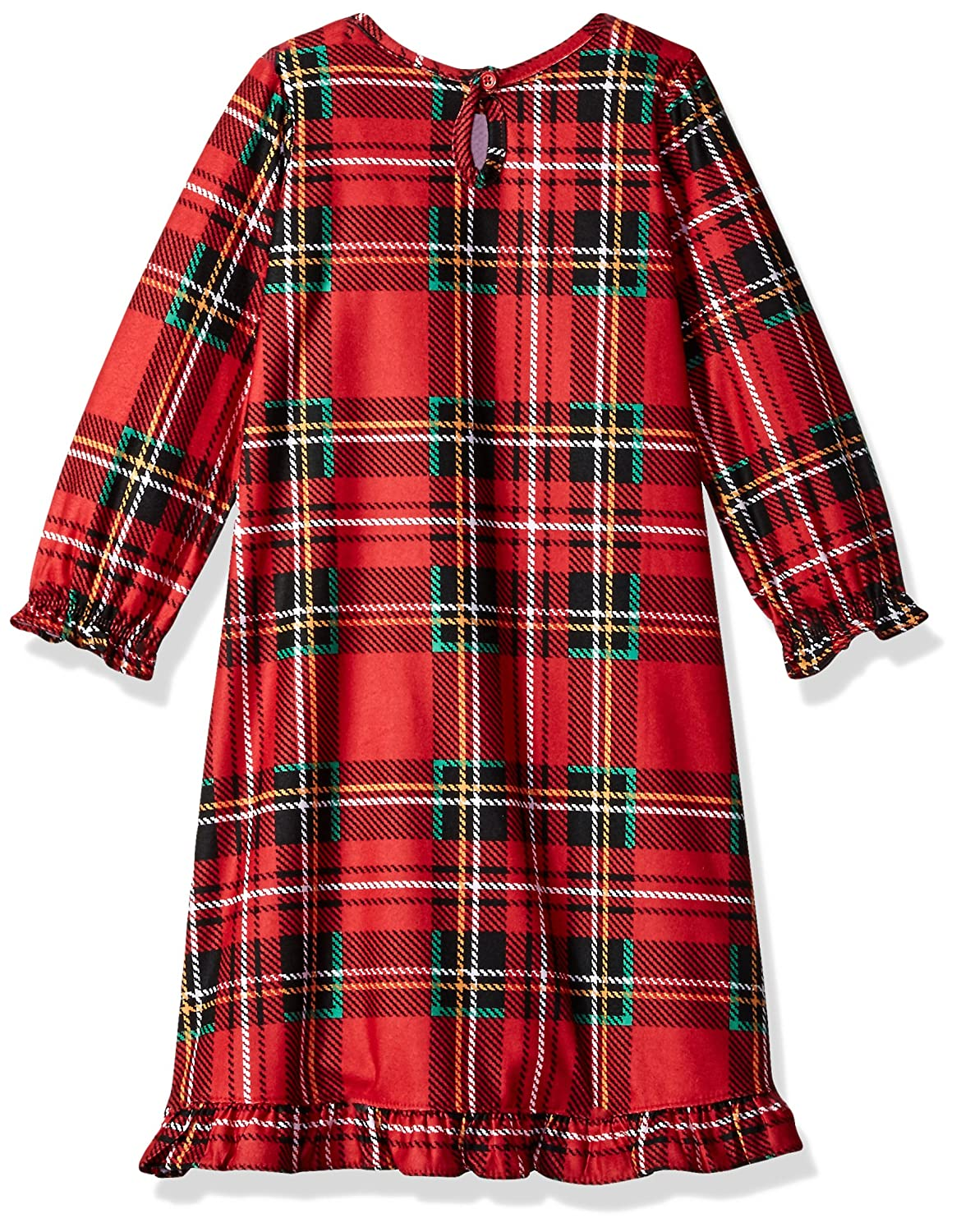 5a1bb1bbcb Amazon.com  Peas   Carrots Girls  Toddler Holiday Red Plaid Nightgown   Clothing