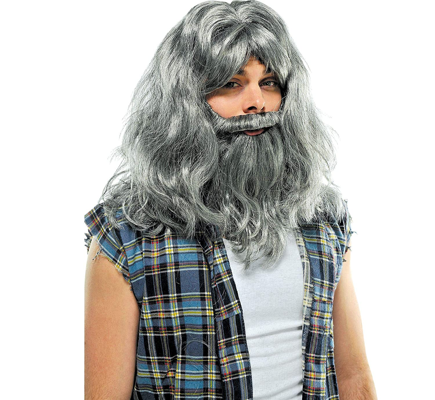 a520e45acd7 Amazon.com  AMSCAN Silver Old Man Wig and Beard Halloween Costume  Accessories