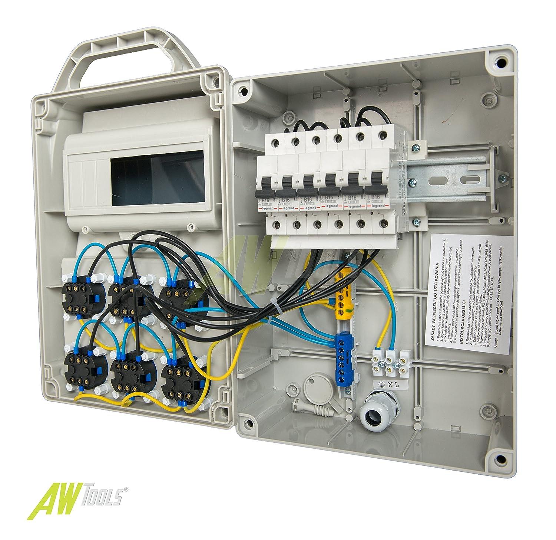 Baustromverteiler, Wandverteiler, Stromverteiler 6 x 230V/16A ...