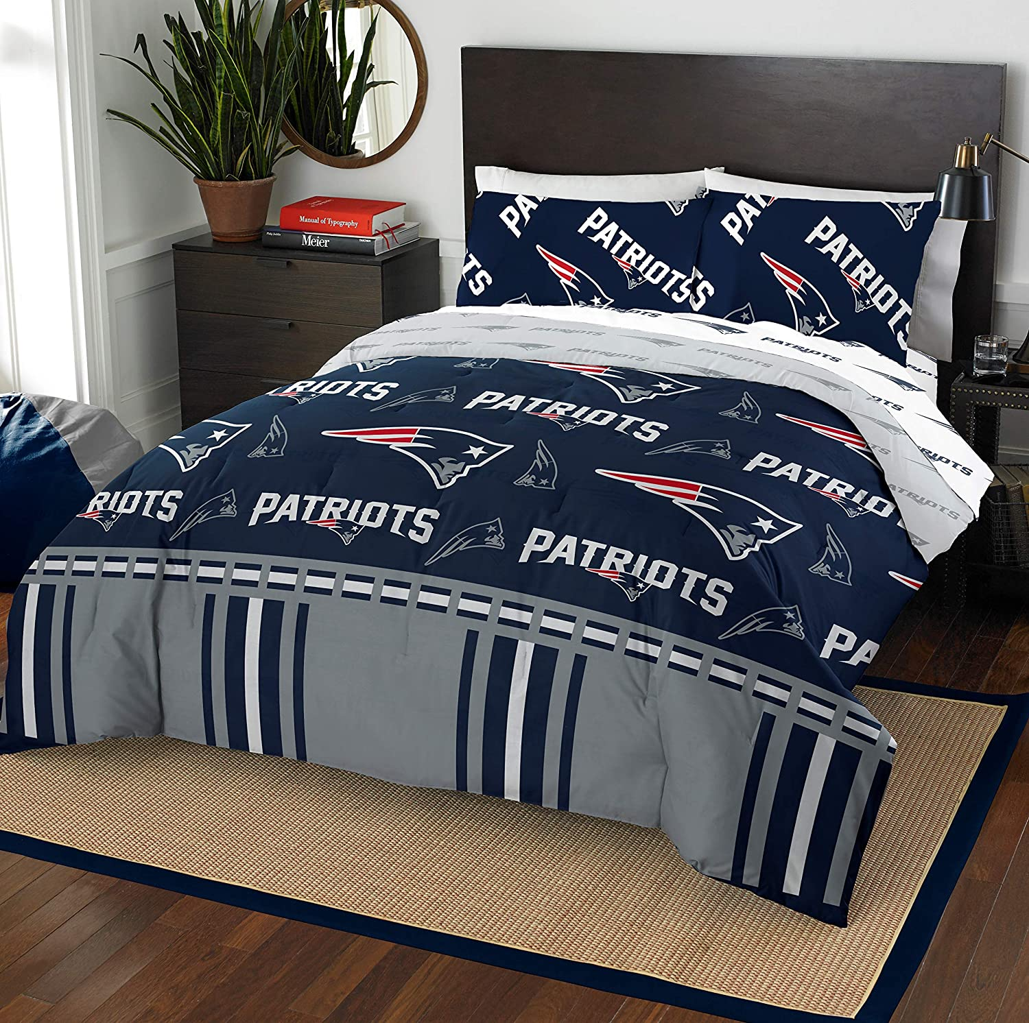 The Northwest Company NFL New England Patriots Full Bed in a Bag Complete Bedding Set #729445576