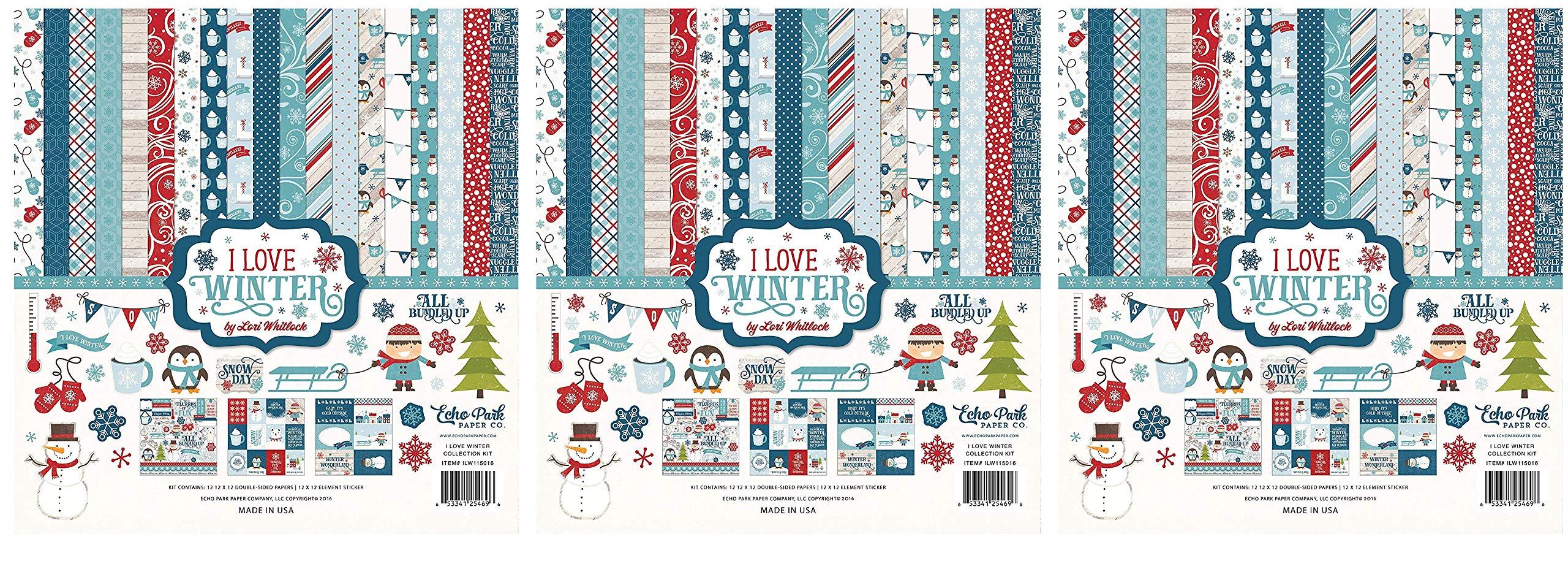 Echo Park Paper Company I I Love Winter Collection Kit (Тhrее Pаck)