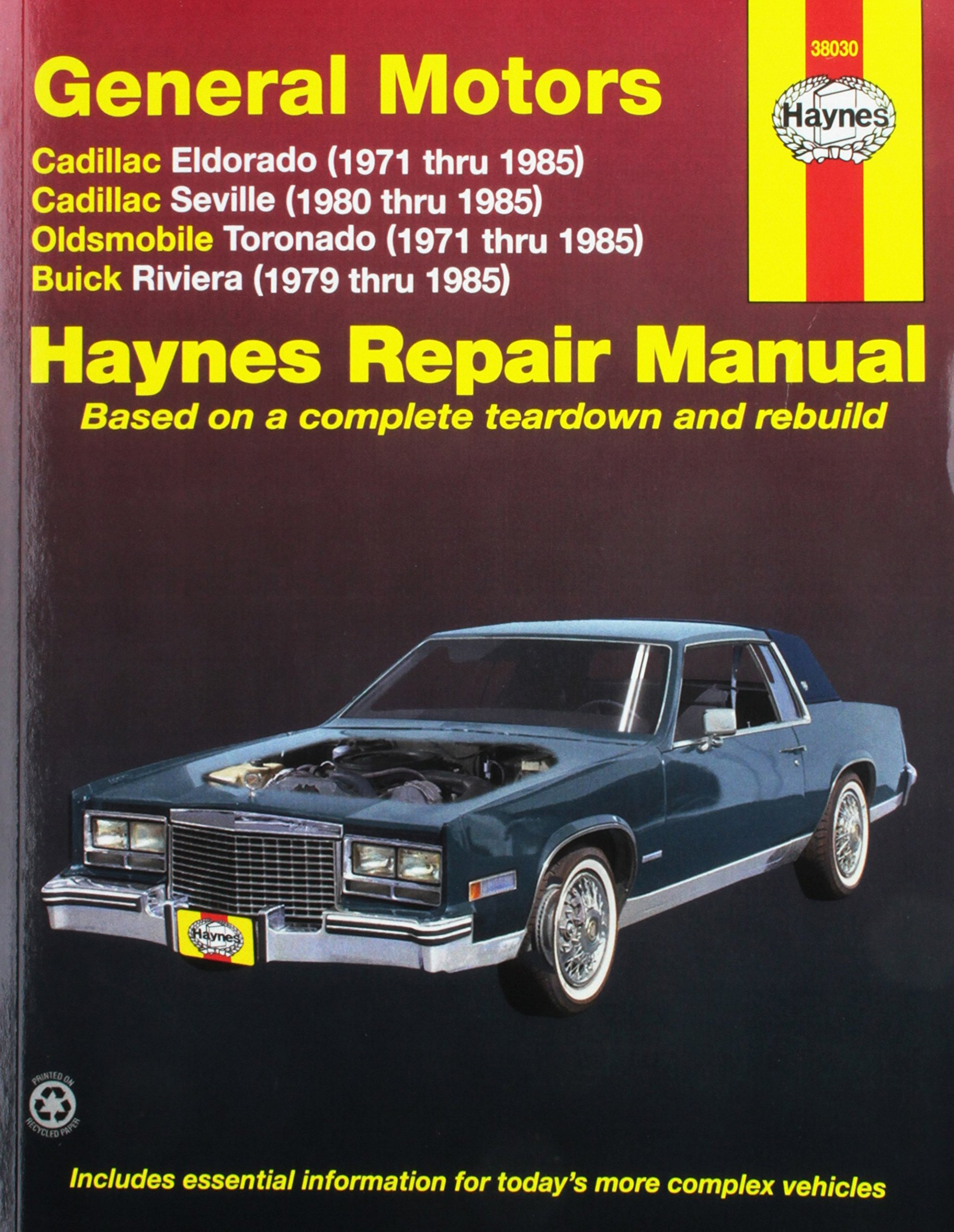 Amazon.com: Haynes Manuals 38030 Eldorado,Seville,Deville71-85  (0038345380303): Books