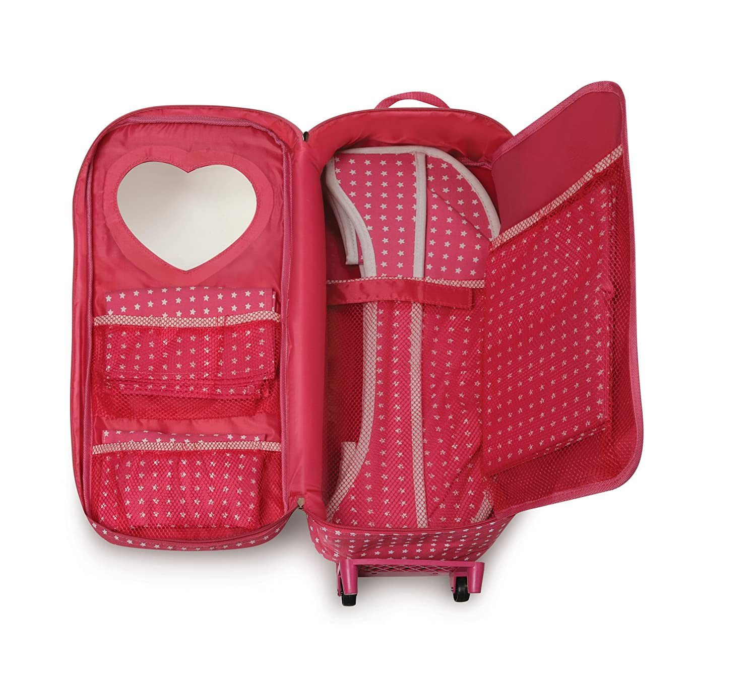 Amazon.com: Badger Basket Trolley Doll Travel Case With Rocking Bed (fits  American Girl Dolls) , Star Pattern: Toys U0026 Games