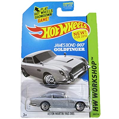 Hot Wheels 2014 HW Workshop James Bond 007 Goldfinger Aston Martin 1963 DB5 200/250: Toys & Games