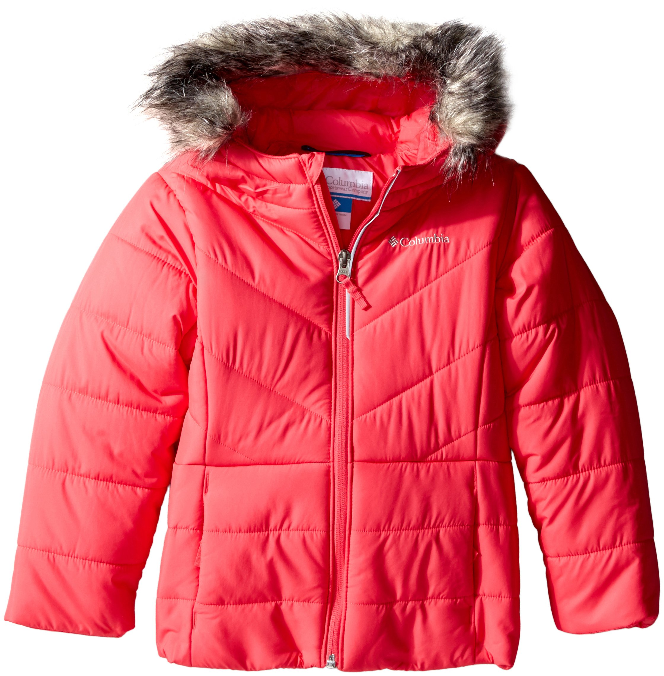 Columbia Big Girls' Katelyn Crest Jacket, Punch Pink, Medium (10/12)