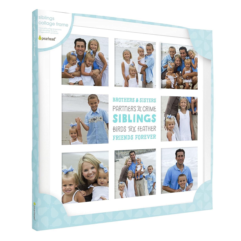 Amazon.com : Pearhead Siblings Sentiment Keepsake Collage Photo ...