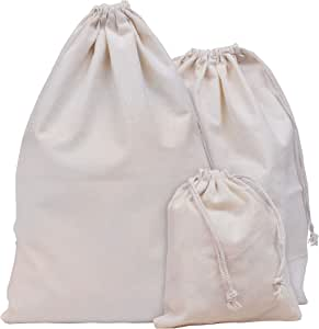 Bolsa de Muselina (Pack de 9) - 3 Tamaños, 15cm x12.5cm, 30cm x ...