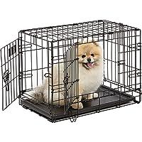 MidWest Homes for Pets Dog Crate   iCrate Single Door & Double Door Folding Metal Dog Crates  …