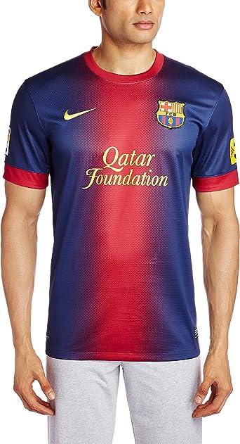 Nike Barcelona F.C. - Camiseta de fútbol para hombre, 2012-13, talla XXL, color azul / rojo: Amazon.es: Ropa y accesorios