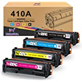 Halofox Compatible Toner Cartridge Replacement for HP 410A CF410X CF411X CF412X CF413X Pro MFP M377dw M452dn M452dw…
