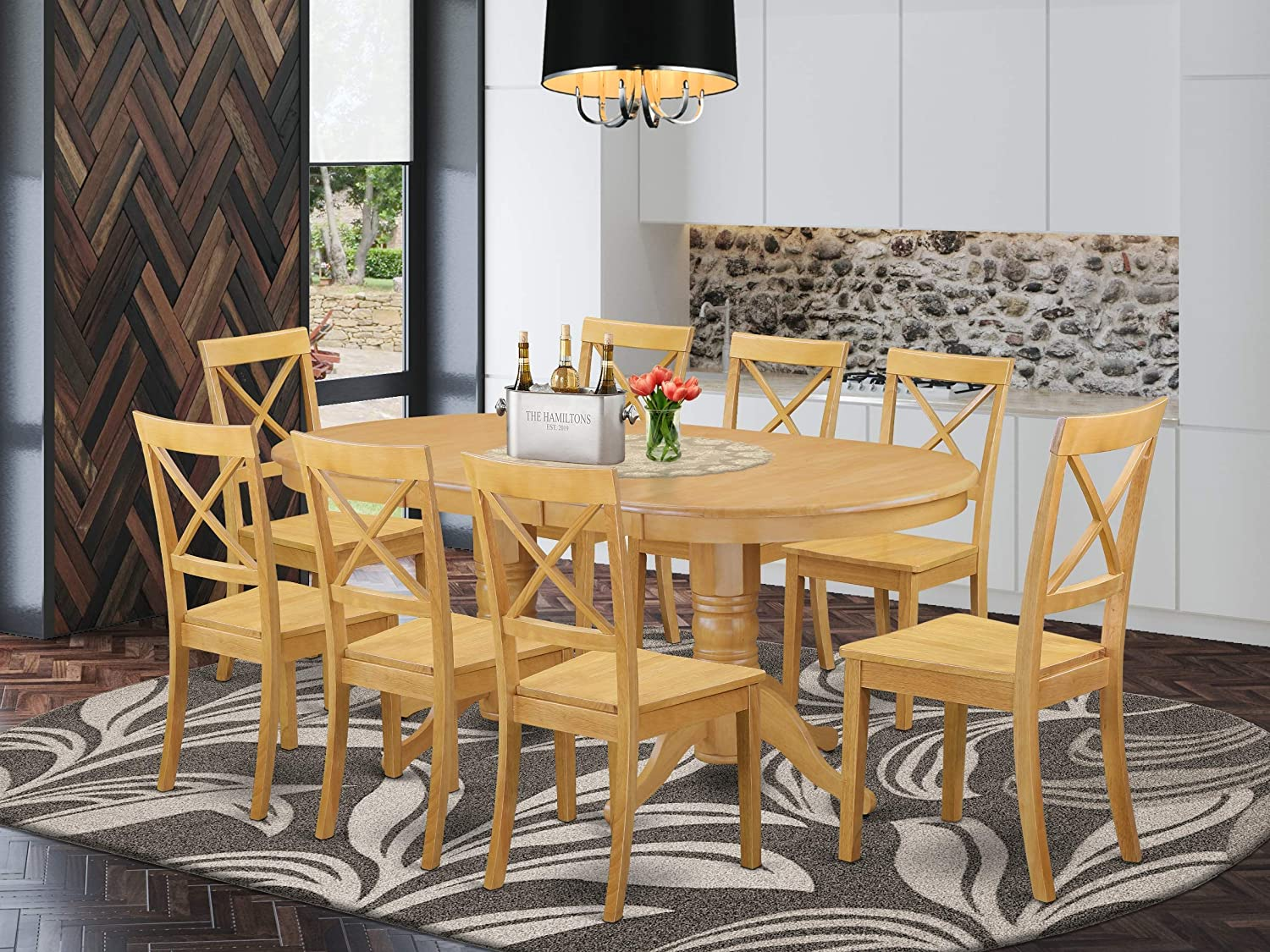 "Amazon.com: 5-Piece Vancouver Dining Table with one 5"" Leaf and 5"