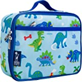 Wildkin Lunch Box, Insulated, Moisture Resistant, and Easy to Clean with Extras for Quick and Simple Organization, Ages 3+, Perfect for Kids or On-The-Go Parents, Olive Kids Design, Dinosaur Land