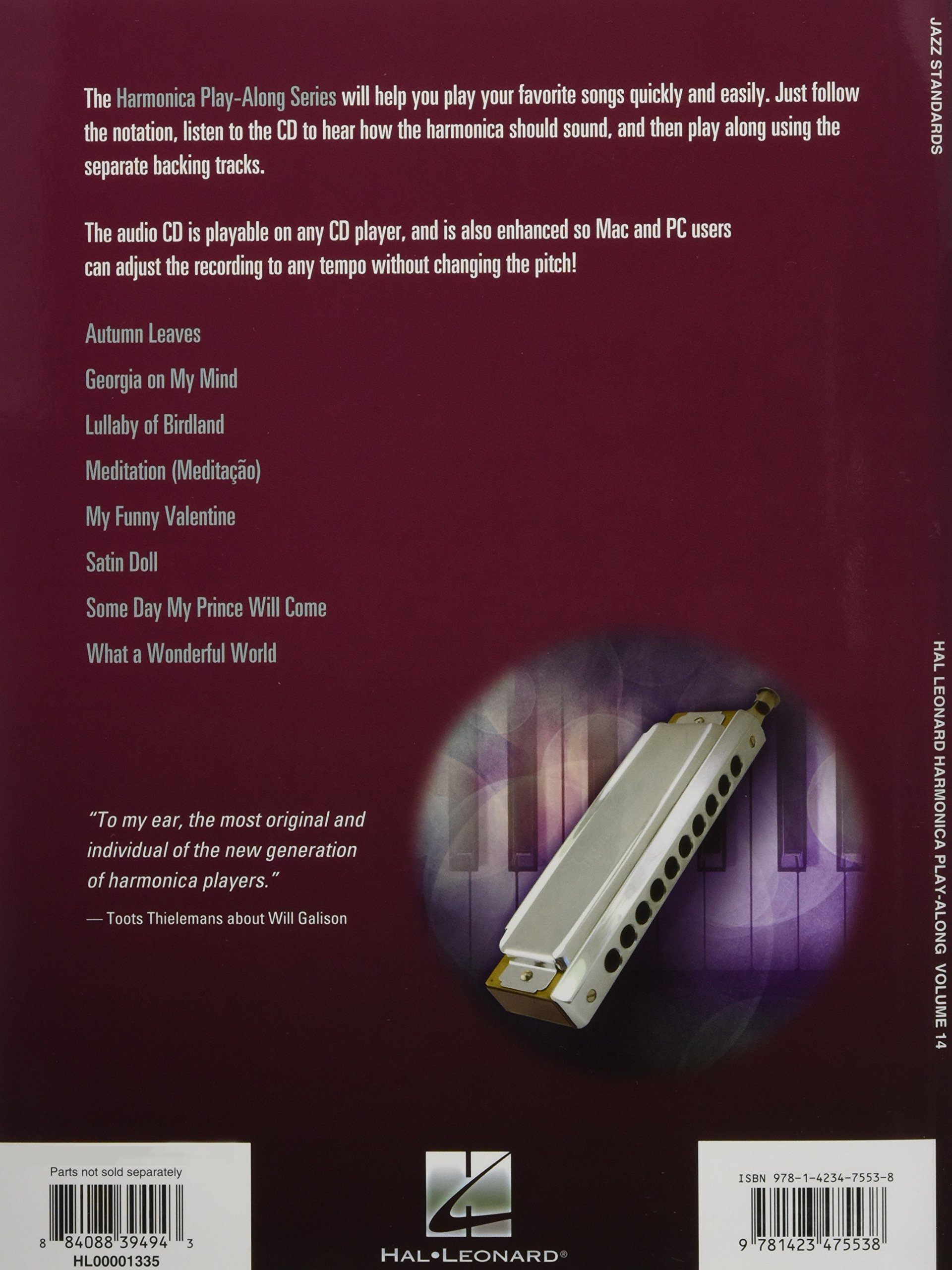 Amazon.com: Jazz Standards: Harmonica Play-Along Volume 14 (Chromatic  Harmonica) (Hal Leonard Harmonica Play-Along) (9781423475538): Will  Galison, ...