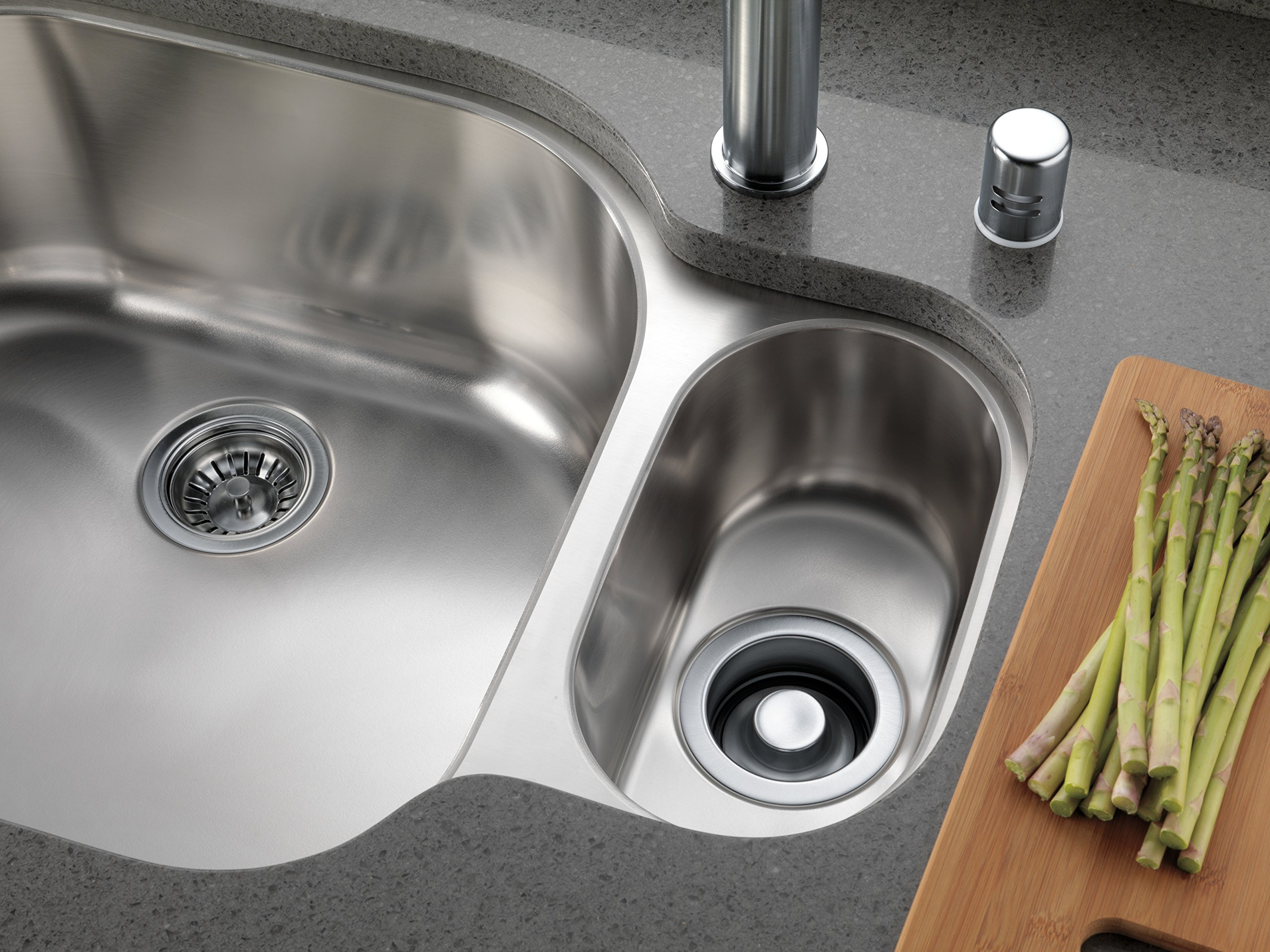 Delta Faucet 72010-AR Flange and Strainer Kitchen Sink, Arctic Stainless by DELTA FAUCET (Image #2)