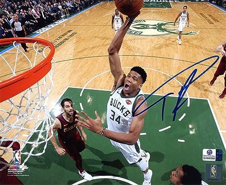 125b889bc7407 Giannis Antetokounmpo Milwaukee Bucks Signed Autographed 8
