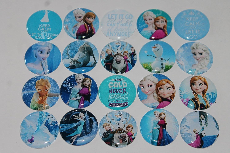 Frozen Tema inspirado imanes para nevera - 20 piezas Set 1: Amazon ...