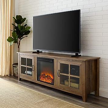 new arrival 1fa83 e7978 WE Furniture AZ70FPSCRO Fireplace TV Stand, 70