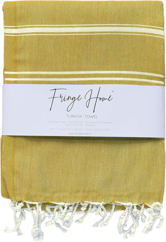Fringe Home 100 x 180 cm, 100/% algod/ón Toalla turca para hammam