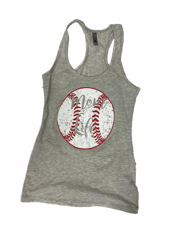 Heather Devious Apparel Mom Life 6633 TM09 Fitted Poly Blend Tank Baseball Softball Team Mom Tee Printed Women's