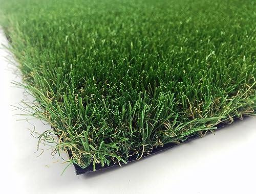 AllGreen Chenille Deluxe Multi Purpose Artificial Grass Synthetic Turf Indoor Outdoor Doormat Area Rug Carpet 6 x 9
