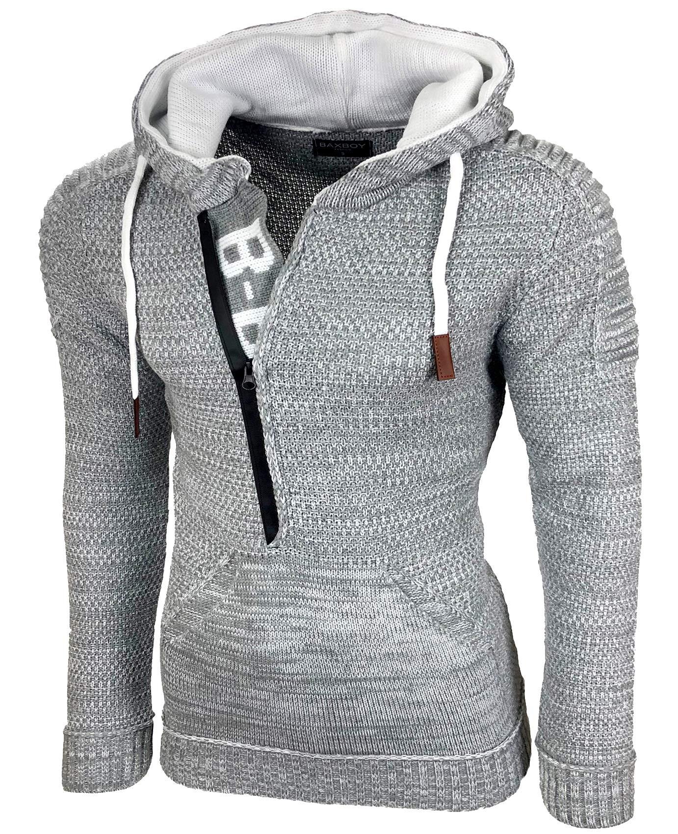 RUSTY Neal Tricot-Pull Wärmender motif torsadé-Sweater Hommes Sweatshirt Langar