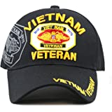 The Hat Depot 1100 Official Licensed VIETNAM VETERAN(1959-1975) 3D Baseball Cap