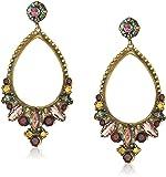 Sorrelli Mahogany Crystal Adorned Statement Drop Earrings