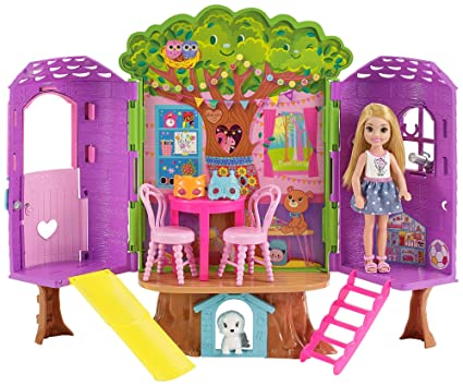 Amazoncom Barbie Club Chelsea Treehouse House Playset Toys Games
