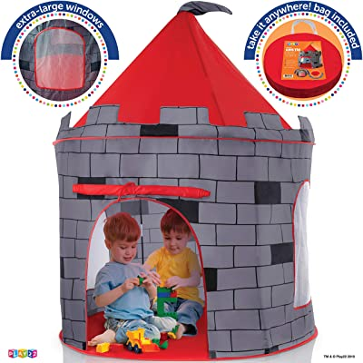 Kids Play Tent Knight Castle - Portable Kids Tent - Kids Pop Up Tent Foldable Into Carrying Bag - Childrens Play Tent For Indoor And Outdoor Use - Kids Playhouse Best Gift For Boys and Girls, Original: Toys & Games