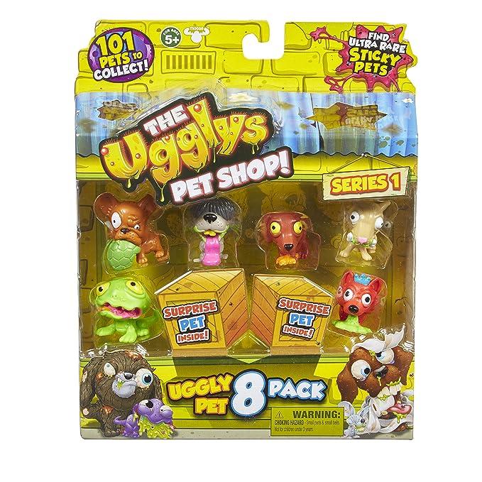 THE UGGLYS PET SHOP Uggly - Figuras de la Tienda de Mascotas (8 Unidades, Estilos Variados)