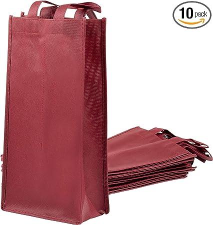 Amazon.com: Bolsas para botellas de vino, no tejidas, doble ...
