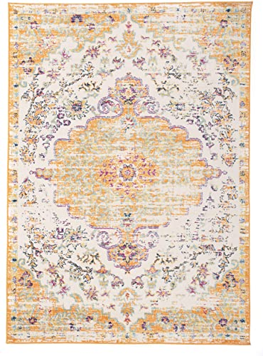 Rugshop Vintage Traditional Bohemian Area Rug 5' x 7' Orange