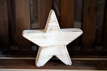 Stern Aus Keramik Creme Gold Weihnachten Fensterdeko Weihnachtsdeko