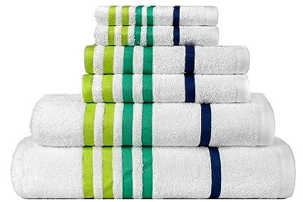 Casa Copenhagen exótico algodón 475 g/m² 6 piezas funda juego de toallas de mano