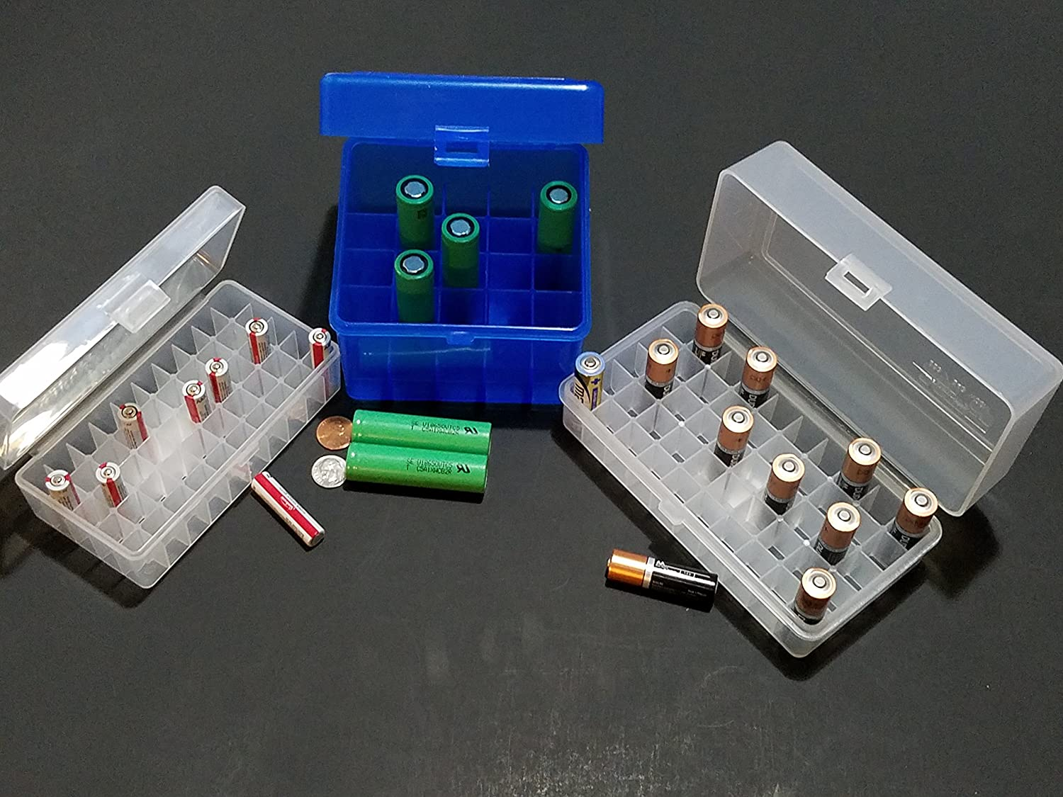 Transparent LEISE Battery Storage Case Holder Storage Battery Box For AA//AAA♘♙