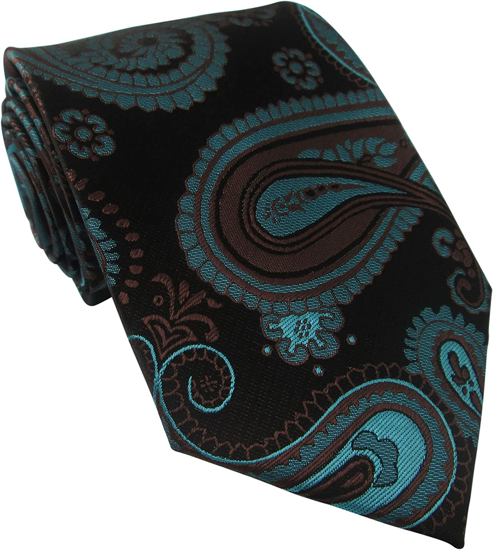 Oliver Bainbridge Corbata de seda negra con diseño de cachemira ...
