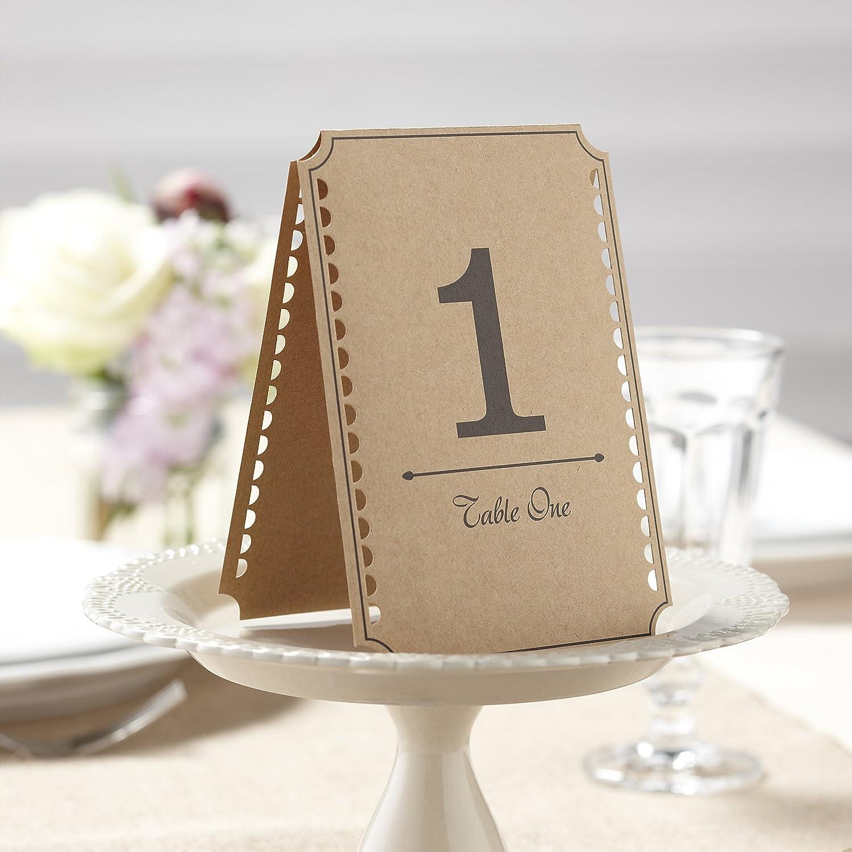 Amazon.com: Ginger Ray Vintage Affair Kraft Wedding Table Numbers ...