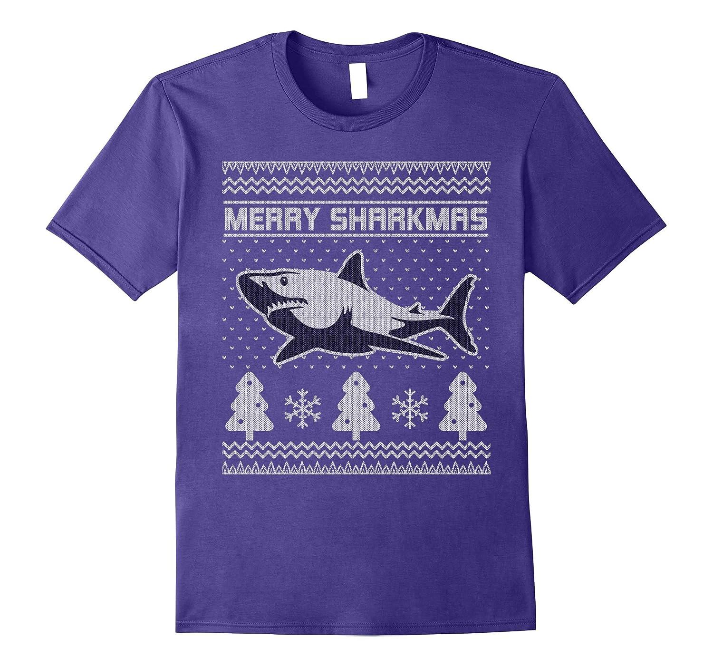 Merry Sharkmas Ugly Christmas Sweater T-shirt, Shark Gift-ANZ