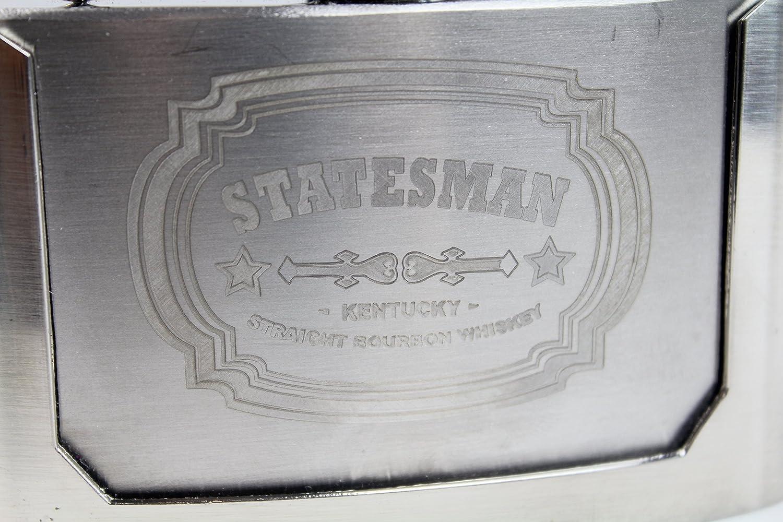 Amazon.com: Statesman grabado petaca de hebilla Kingsman 3oz ...