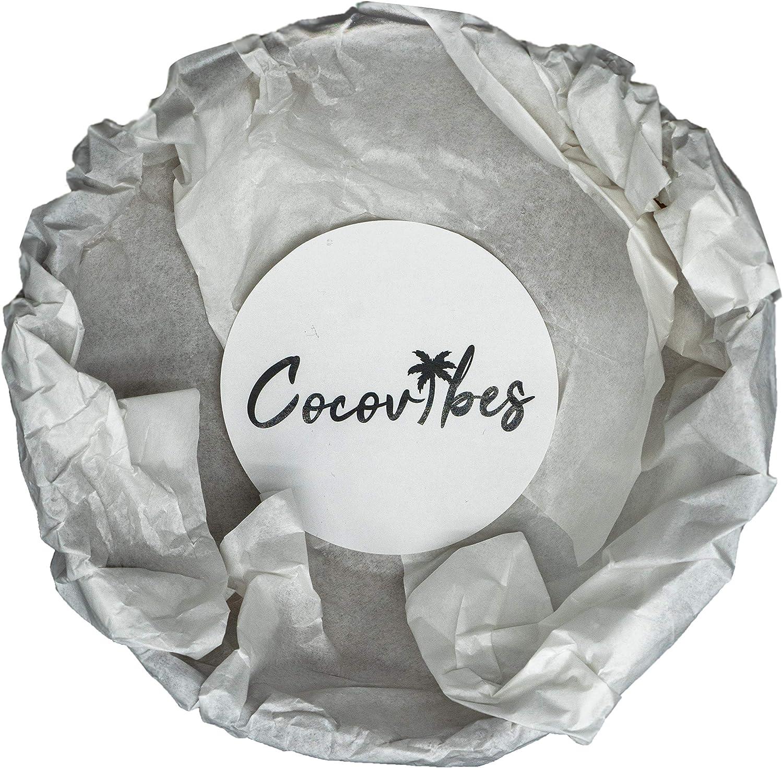 Handgemacht und Umweltfreundlich 1 Lackiert cocovibes Kokosnuss Dekoschale Buddha Bowl Gr/ün
