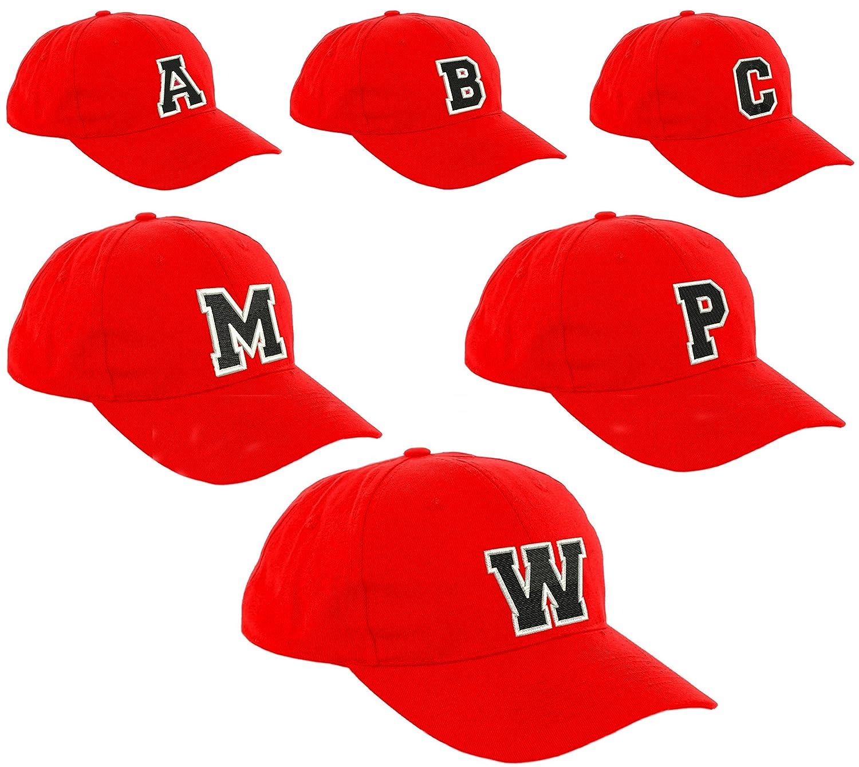 New Casquette de Baseball Cap ROUGE Garçon Fille Enfants Chapeau Bonnet  Unisexe A-Z Alphabet  ( 7368c40f8c4