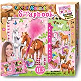 SMITCO Horse Gifts for Girls - Kids Scrapbooking Kit - Hardback Activity Set with Passcode Lock to Keep Her Secrets Safe