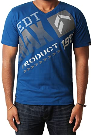 Mens T-shirt Tee Max Edition Slice Printed Graphic V Neck 100/% Cotton Top