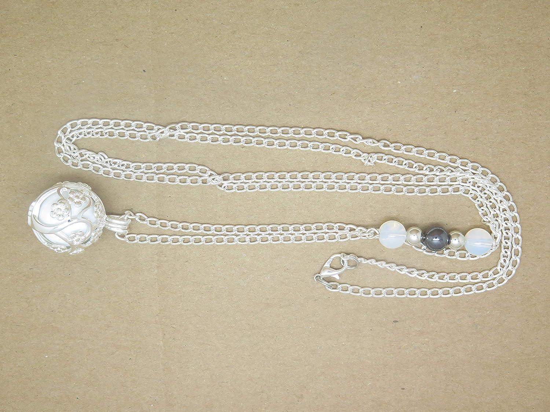 Bola de Grossesse Personnalisable Arbre de Vie et Descente de Perles Opalites H/ématite Cadeau Future Maman de Grossesse F de Bm cr/éations