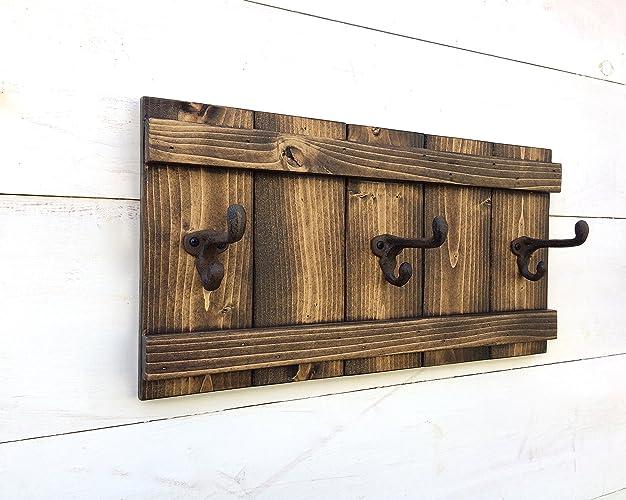 Amazon Handmade Wooden Wall Mount Coat Rack With Vintage Cast Amazing Wooden Wall Coat Rack
