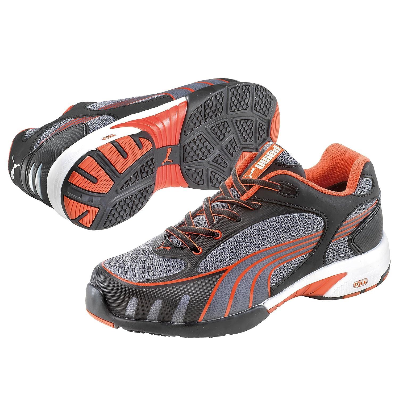 EU 36 Puma 642870-805 Damen Espadrille Halbschuhe Grau grau//rot 805 Puma Safety Shoes Fuse Motion Red Wns Low S1 HRO SRC