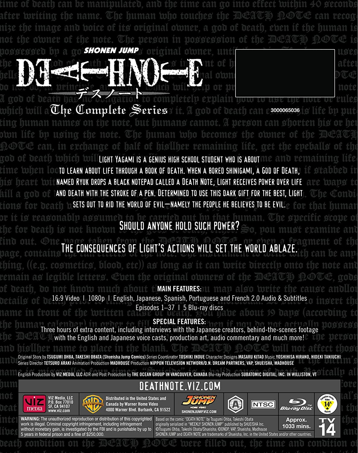 Amazon com: Death Note: Complete Series Standard Edition (Blu-ray